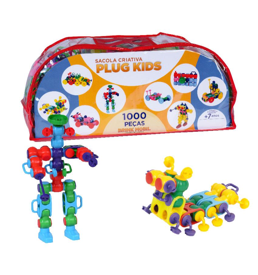 Sacola criativa plug kids