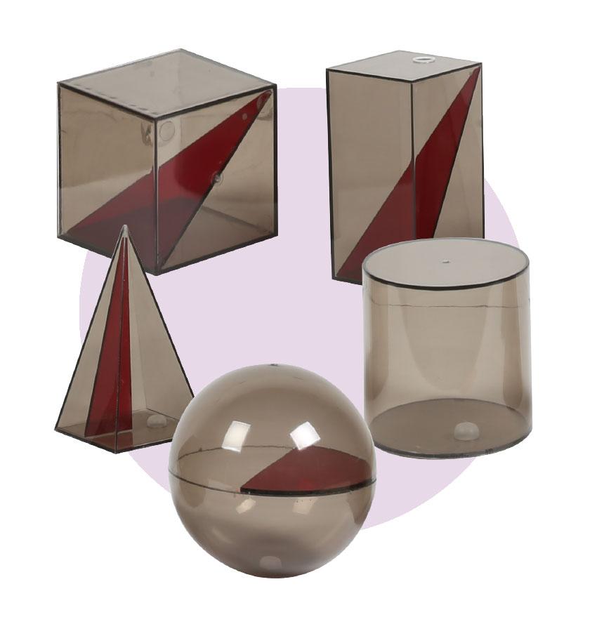 Sólidos geométricos em acrílico