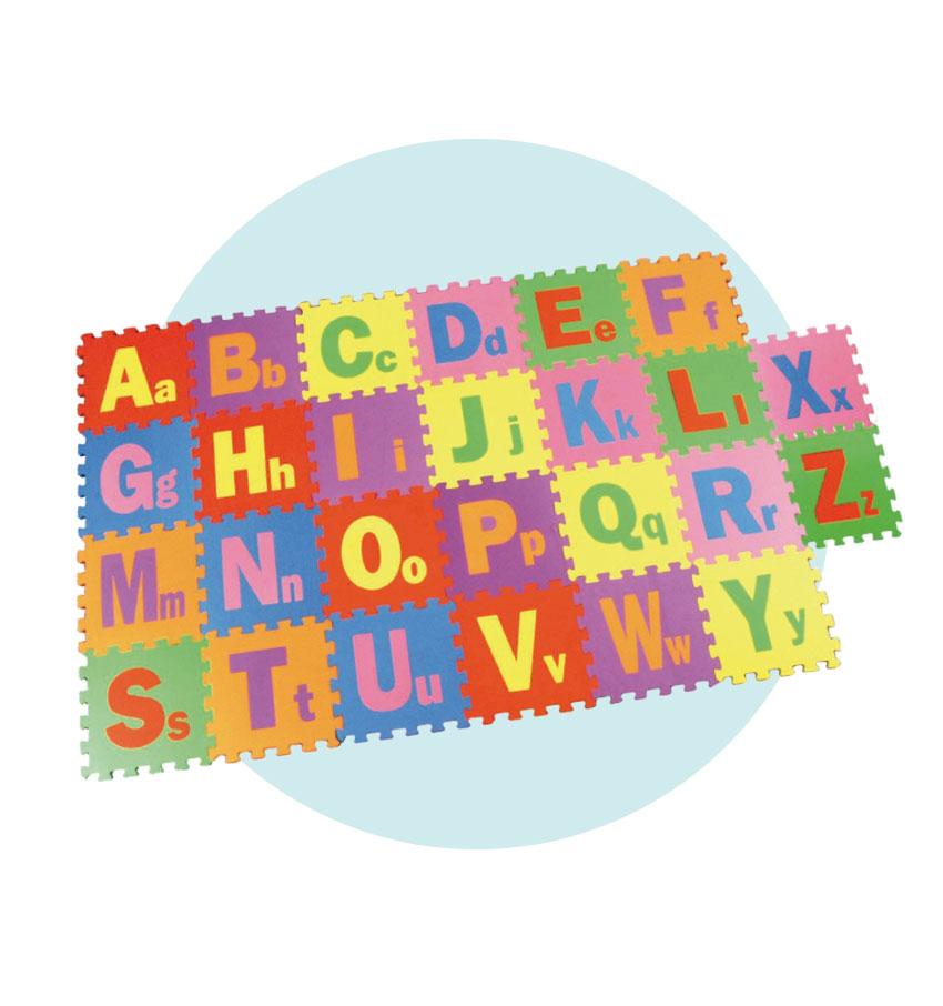 Tapete com encaixe letras