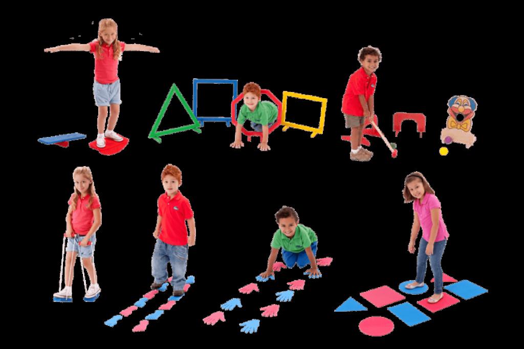 Conjunto linha de atividade corporal